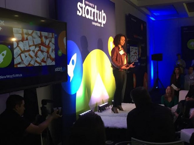 Lauren pitches Stretch Recipes during IBM's New Way to Startup competition at SXSW.