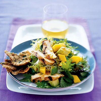 Grilled Chicken with Avocado and mango