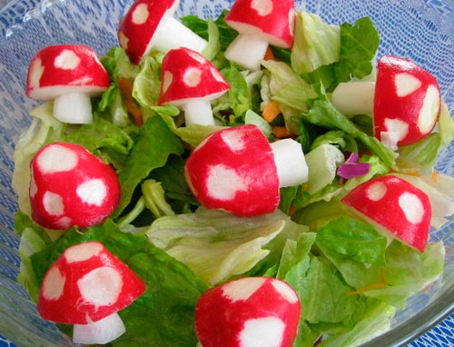 radish-mushrooms